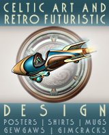Celtic Art and Retro Futuristic Design